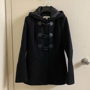 New York & Company Peacoat with Hood Black XS